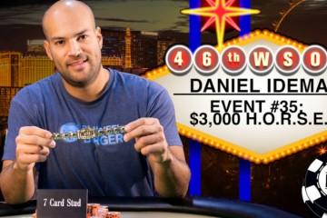 2015 WSOP 35-й Ивент ($3 000 H.O.R.S.E.). Победу одерживает Даниэль Айдема