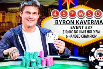 2015 WSOP 37-й Ивент ($10 000 No-Limit Hold'em 6-Handed Championship). Турнир выигрывает Байрон Каверман