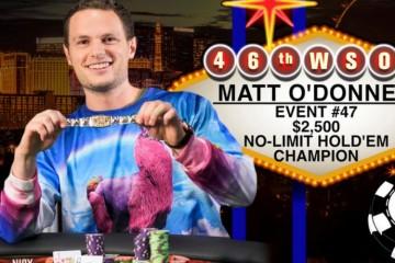 WSOP 2015 47-й ивент ($2 500 No-Limit Hold'em). Победа достается Мэтту О'Доннэллу