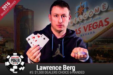 Лоуренс Берг – победитель турнира USD 1 500 Dealer's Choice на WSOP 2016
